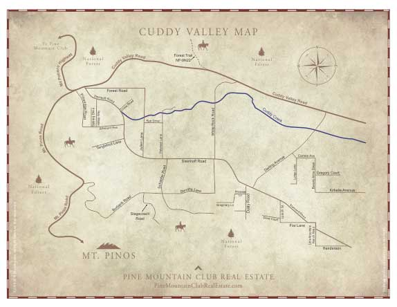 Cuddy Valley Map