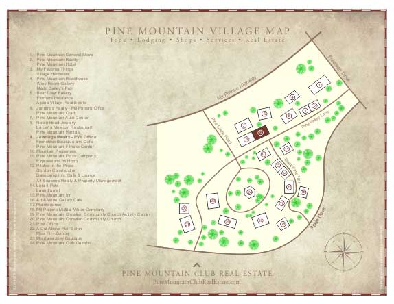 Pine Mountain Village Map